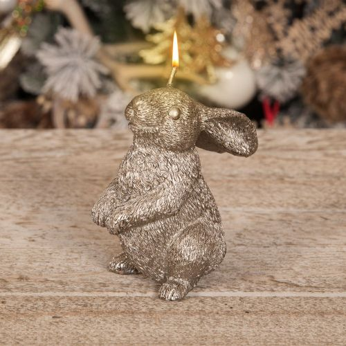 Rabbit Candle Christmas Woodland Decoration rabbit shaped candle